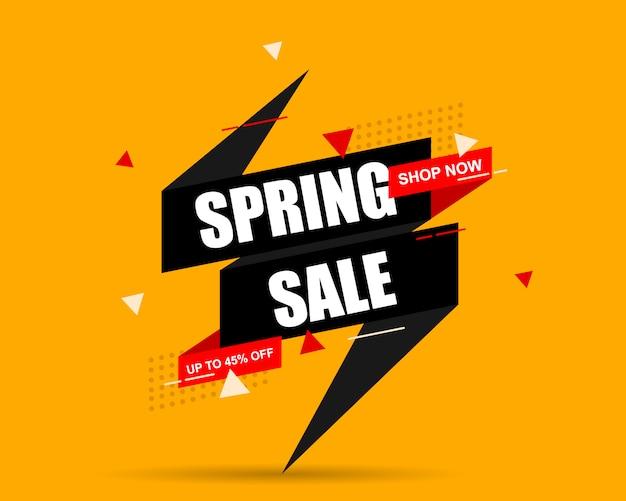 Spring sale. price tag.