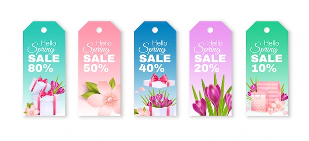 Spring sale. tags