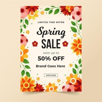 Modello di vendita di primavera per flyer