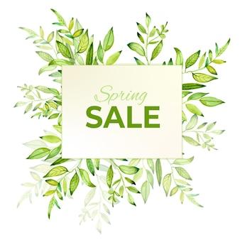 Spring sale watercolor