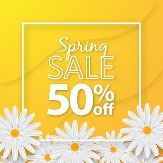 Spring sales background