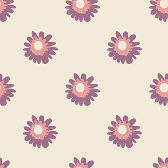 春の紫と薄紫色のシームレスパターン。パステルトーン。