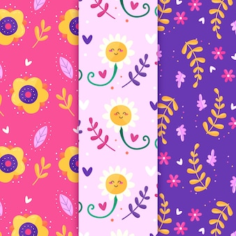 Spring seamless pattern with flowers