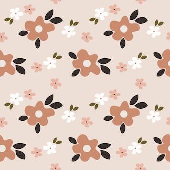 花と春のシームレスなパターン。