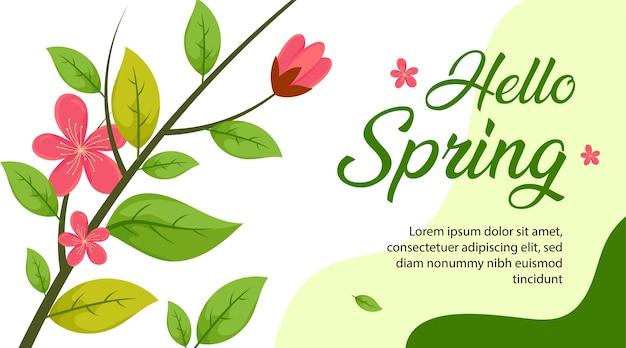 Spring season background, spring flower background