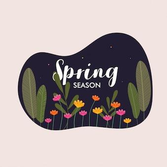 春シーズンの背景。