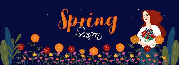 Spring season background.