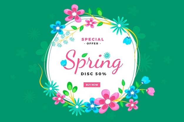 Spring season sales with flowers