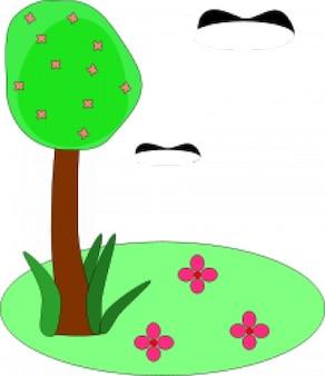 Spring simple drawing
