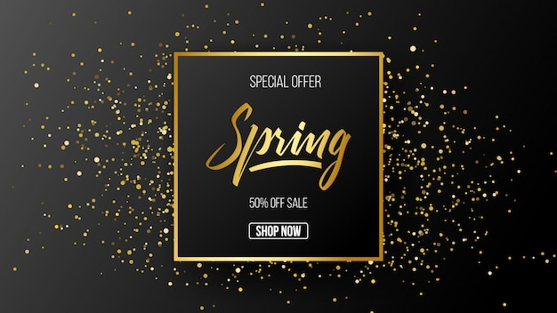 Spring special offer sale template background
