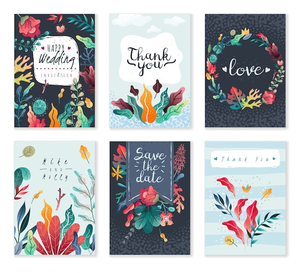 Spring-summer decorative cards