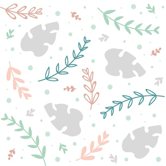 Spring or summer floral pattern or background