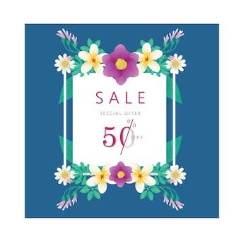 Spring summer sale discount banner
