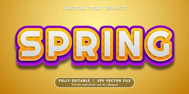 Spring text effect editable text style