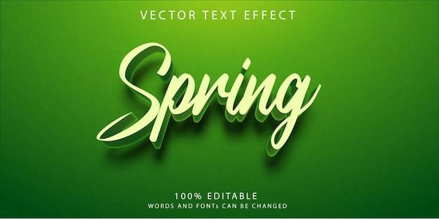 Шаблон стиля весенних текстовых эффектов