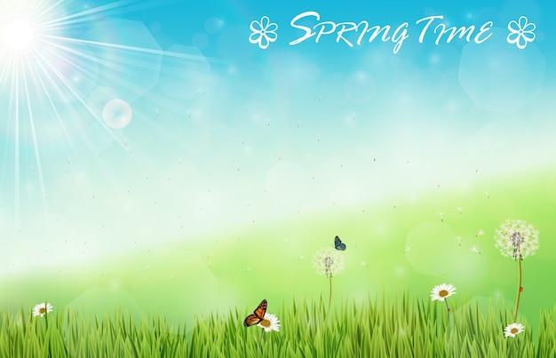 봄 시간 배경