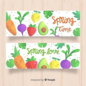 Spring time banners
