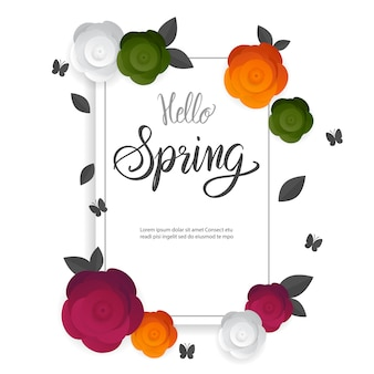 Spring time card