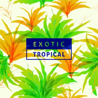 Spring tropical leaves pattern