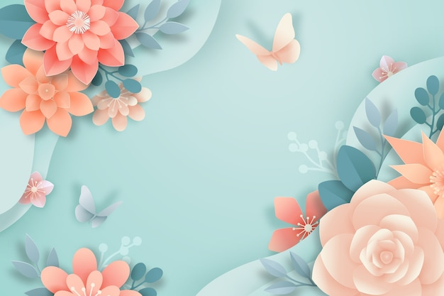 Spring wallpaper paper style