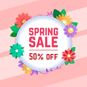 Весенние распродажи цветочный дизайн