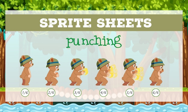 Sprite sheet punching template