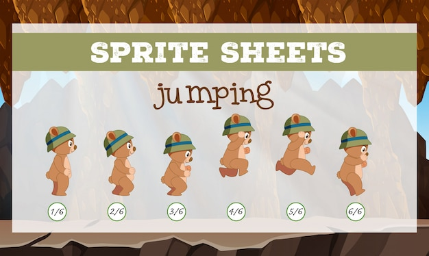 Sprite sheets jumping template