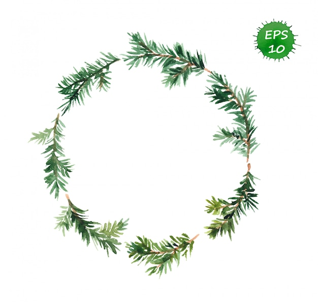 Spruce wreath of christmas