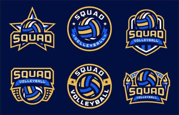Squad volleyball sport logo