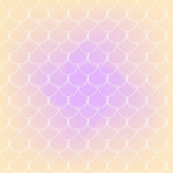 Squama on trendy gradient background. square backdrop with squama ornament. bright color transitions. mermaid tail banner and invitation. underwater and sea pattern. warm peachy colors.