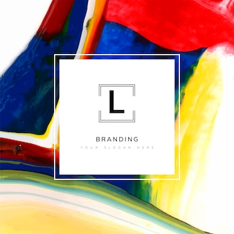 Square artistic branding template