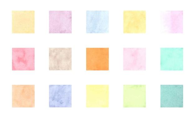 수채화 흰색 절연 정사각형 배지
