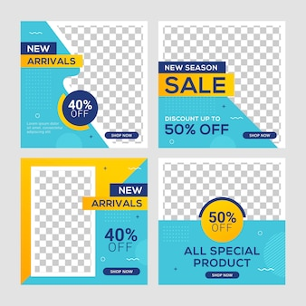 Square banner post template ad for business promotion