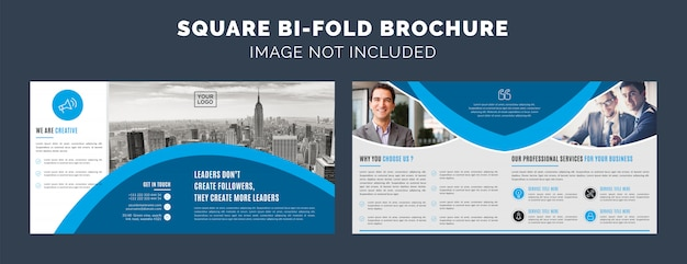 Square bifold brochure template