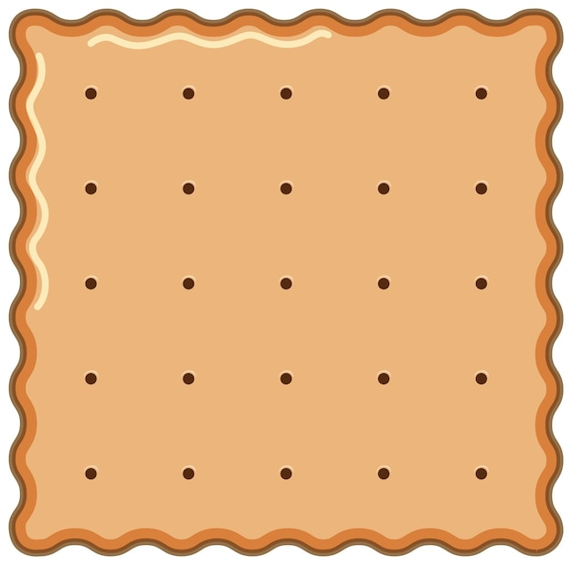Square biscuit in cartoon style isolated