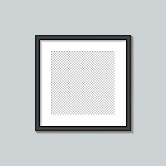 Square black frame template.  illustration.