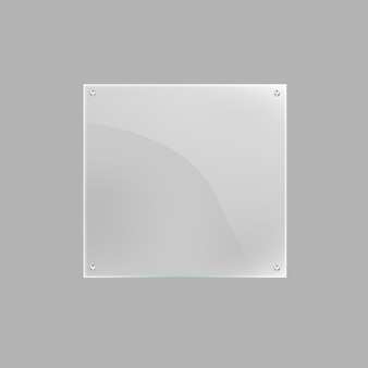 고립 된 사각 빈 유리 접시