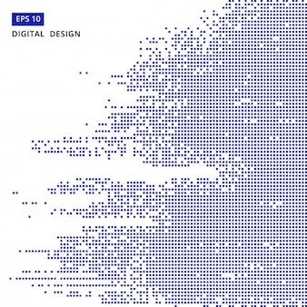 Square blue pattern pixel mosaic digital background