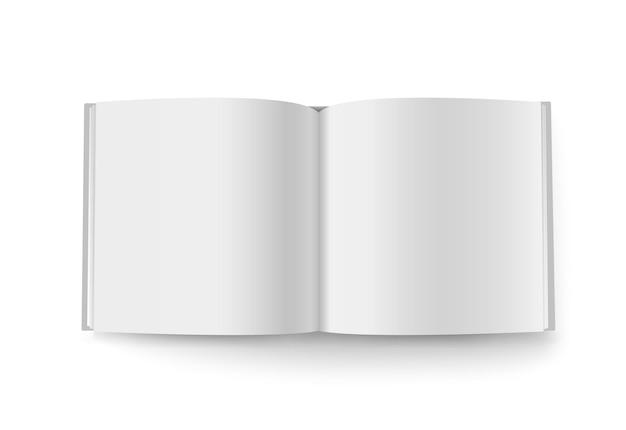 白で隔離の正方形の小冊子ベクトルモックアップ。コンテンツの準備ができました