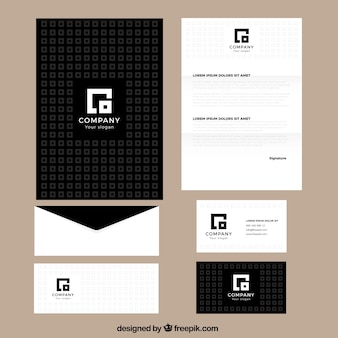 Square busines stationery
