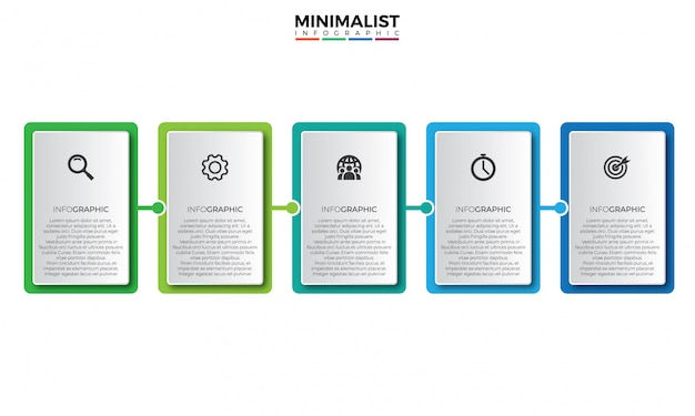 Square business infographic design template