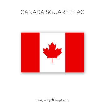 Square canadian flag background