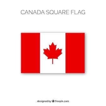 スクエアカナダの旗の背景