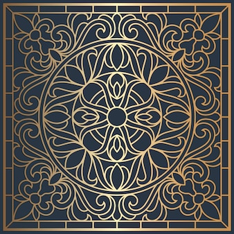 Square ceiling panels stained glass window. abstract mandala flower, swirls, symmetric composition, stained glass.
