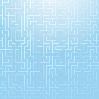 Квадратный цветной рисунок лабиринта.
