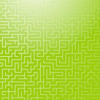 Квадратный цветной узор лабиринта