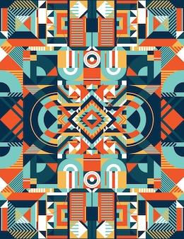 Квадратный цветной рисунок