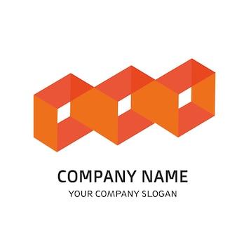 Square company logo vector element