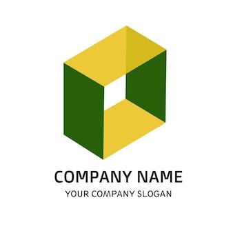 Square company logo vector template