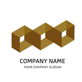 Square company logo vector